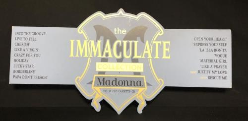 Madonna The Immaculate Collection - Header Board Display display UK MADDITH05421