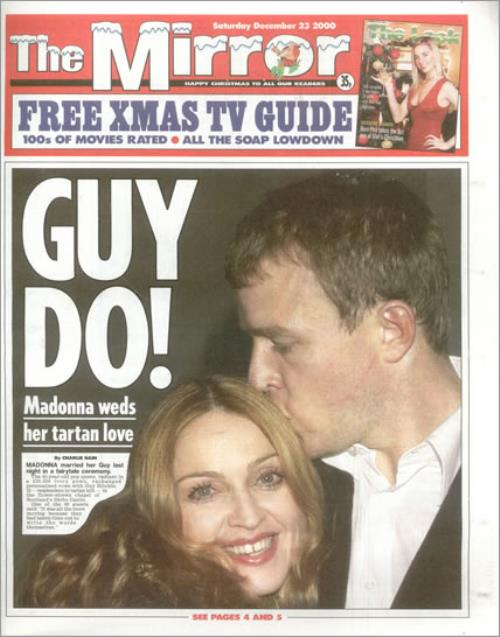 Madonna The Mirror - 23 December 2000 magazine UK MADMATH503954