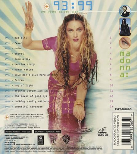 Madonna The Video Collection - ltd collectors pack Video CD Singapore MADVDTH149003