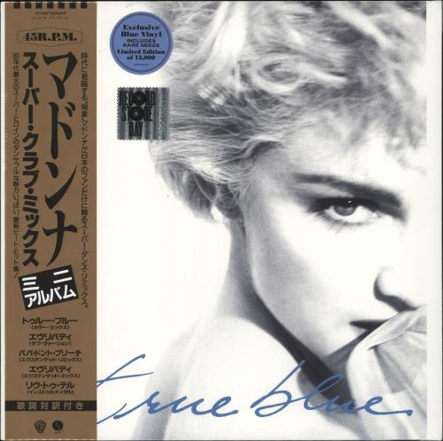 "Madonna True Blue (Super Club Mix) - RSD19 - Blue Vinyl - Sealed 12"" vinyl single (12 inch record / Maxi-single) UK MAD12TR718481"