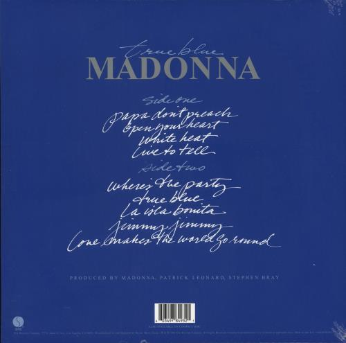 Madonna True Blue - 180gm Clear Vinyl + Poster - Sealed vinyl LP album (LP record) UK MADLPTR733264