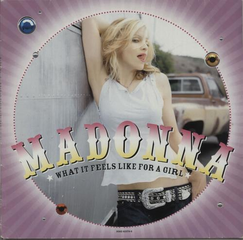 "Madonna What It Feels Like For a Girl - 2nd 12"" 12"" vinyl single (12 inch record / Maxi-single) UK MAD12WH184812"