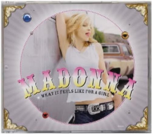 """Madonna What It Feels Like For A Girl CD single (CD5 / 5"""") UK MADC5WH180540"""