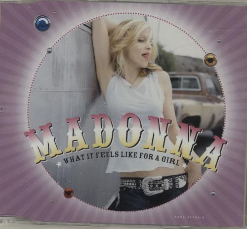 "Madonna What It Feels Like For A Girl CD single (CD5 / 5"") German MADC5WH340755"