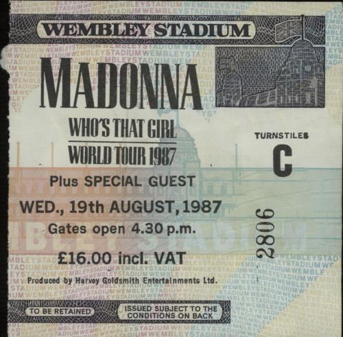 Madonna Who's That Girl + ticket stub vinyl LP album (LP record) UK MADLPWH671749