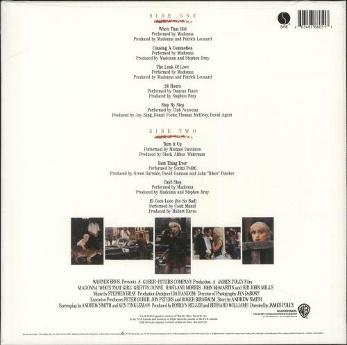 Madonna Who's That Girl - 140gram Vinyl - Sealed vinyl LP album (LP record) UK MADLPWH699022