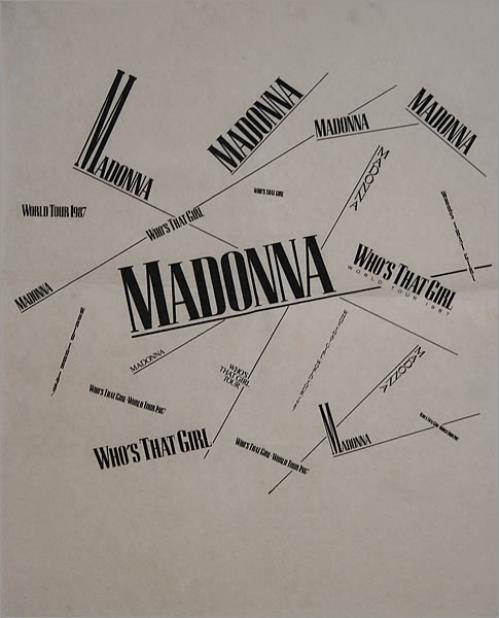 Madonna Who's That Girl World Tour memorabilia US MADMMWH436748