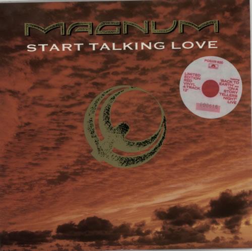 "Magnum Start Talking Love - Red Vinyl 12"" vinyl single (12 inch record / Maxi-single) UK MAG12ST161588"