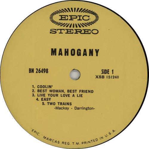 Mahogany (Rock) Mahogany vinyl LP album (LP record) US OHHLPMA666748