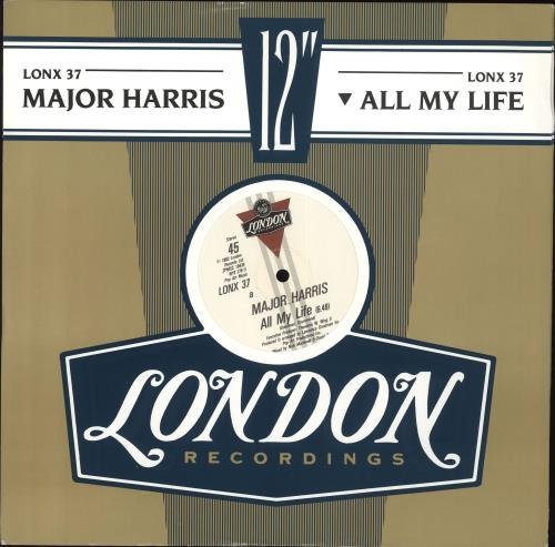 "Major Harris All My Life - Blue sleeve 12"" vinyl single (12 inch record / Maxi-single) UK OGK12AL706855"