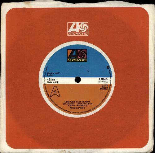 "Major Harris Love Won't Let Me Wait 7"" vinyl single (7 inch record) UK OGK07LO689622"