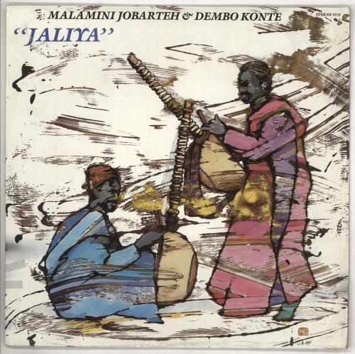 """Malamini Jobarteh & Dembo Konte Jaliya 7"""" vinyl single (7 inch record) UK 0Z407JA738457"""