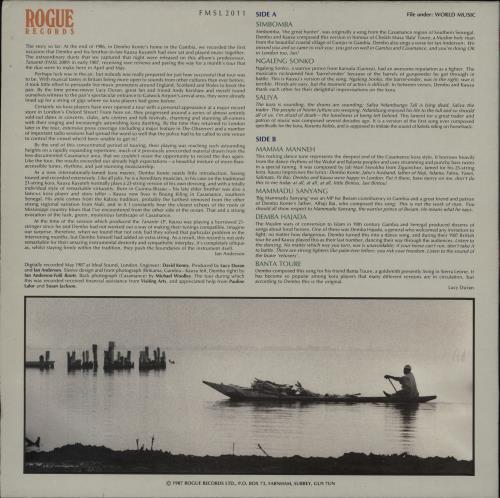 Malamini Jobarteh & Dembo Konte Simbomba vinyl LP album (LP record) UK 0Z4LPSI757226