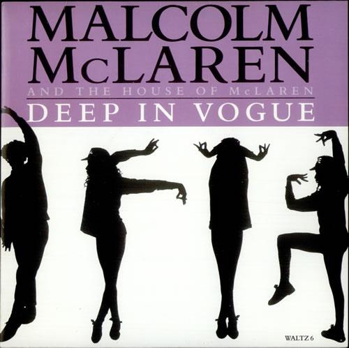 """Malcolm McLaren Deep In Vogue 7"""" vinyl single (7 inch record) UK MAL07DE103005"""