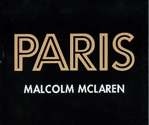 "Malcolm McLaren Paris CD single (CD5 / 5"") UK MALC5PA84878"