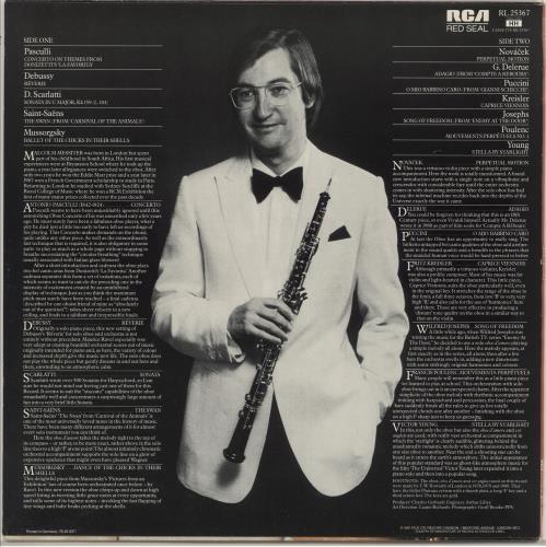 Malcolm Messiter Oboe Fantasia vinyl LP album (LP record) UK O2QLPOB720838