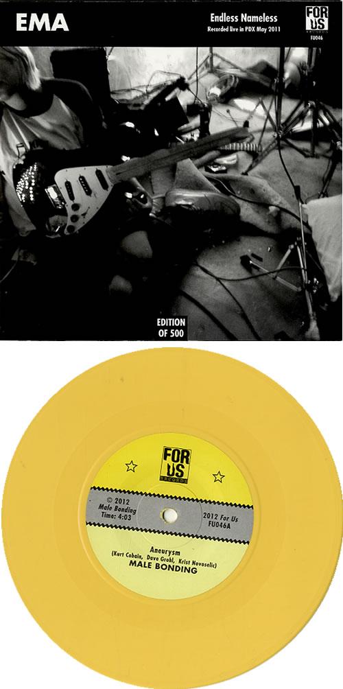 "Male Bonding Aneurysm - Yellow vinyl 7"" vinyl single (7 inch record) UK M5O07AN629199"