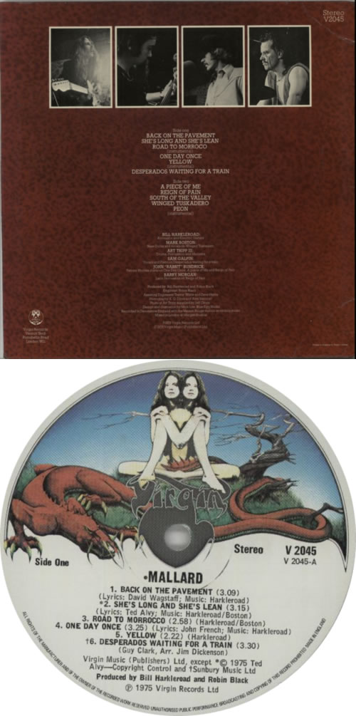 Mallard Mallard vinyl LP album (LP record) UK RLLLPMA609585