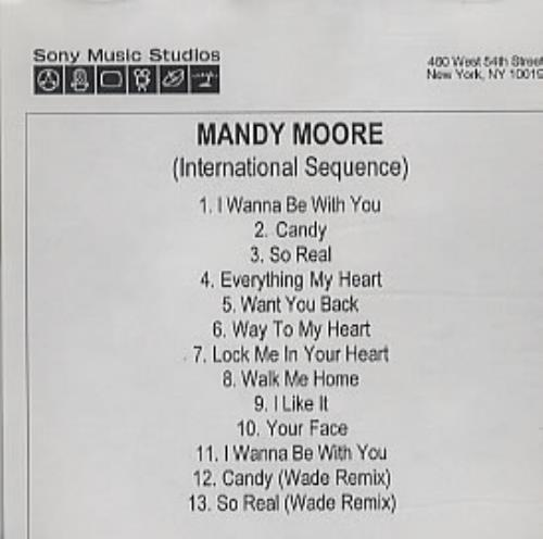 Mandy Moore (International Sequence) CD-R acetate US MDMCRIN327871