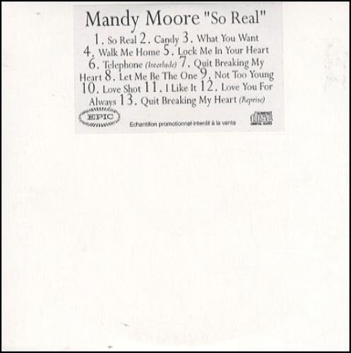 Mandy Moore So Real CD-R acetate French MDMCRSO188508