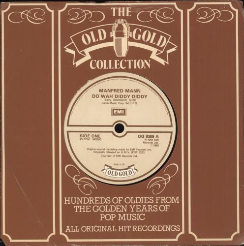 "Manfred Mann Do Wah Diddy Diddy 7"" vinyl single (7 inch record) UK MFM07DO722752"