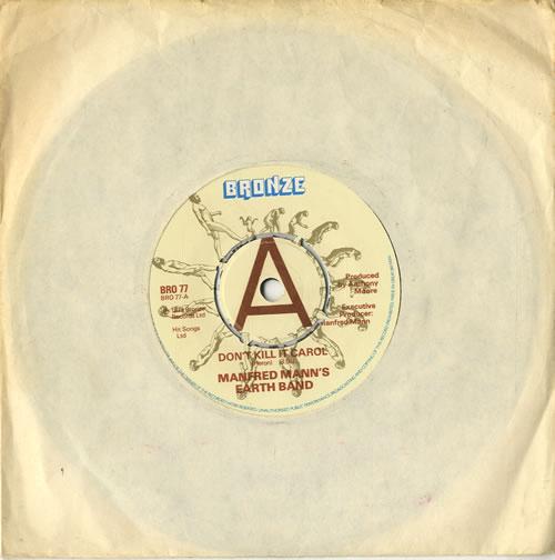 "Manfred Mann Don't Kill It Carol 7"" vinyl single (7 inch record) UK MFM07DO599824"
