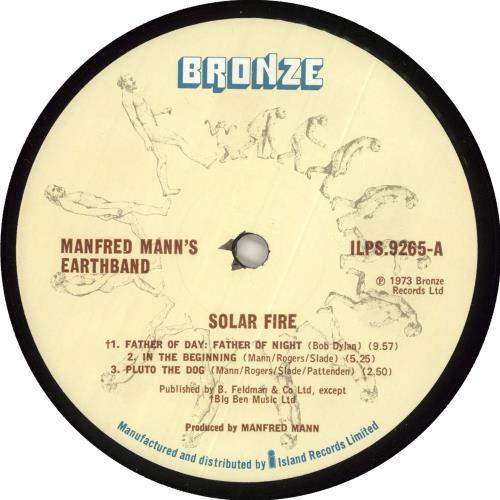 Manfred Mann Solar Fire - 1st - EX vinyl LP album (LP record) UK MFMLPSO722842