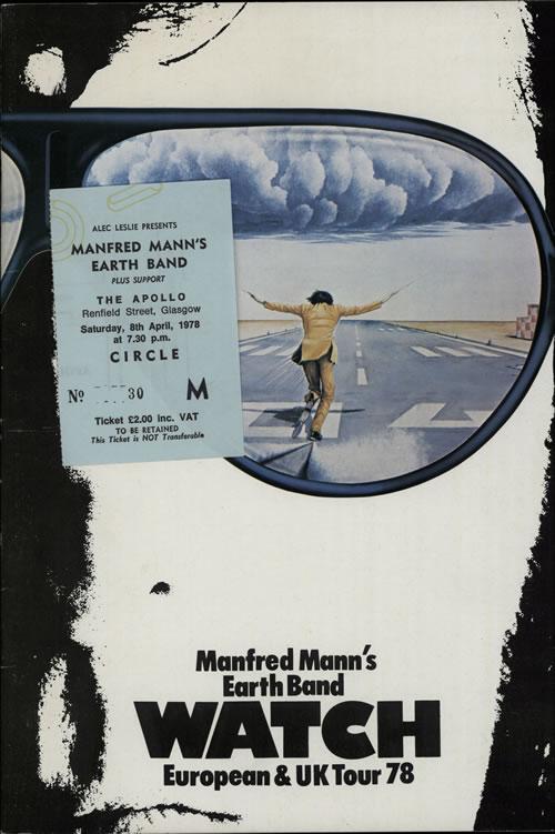 Manfred Mann Watch - European & UK Tour 78 + Ticket Stub tour programme UK MFMTRWA173994