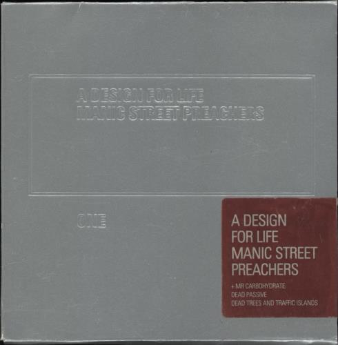 "Manic Street Preachers A Design For Life - CD1 - Sticker sealed CD single (CD5 / 5"") UK MASC5AD765132"