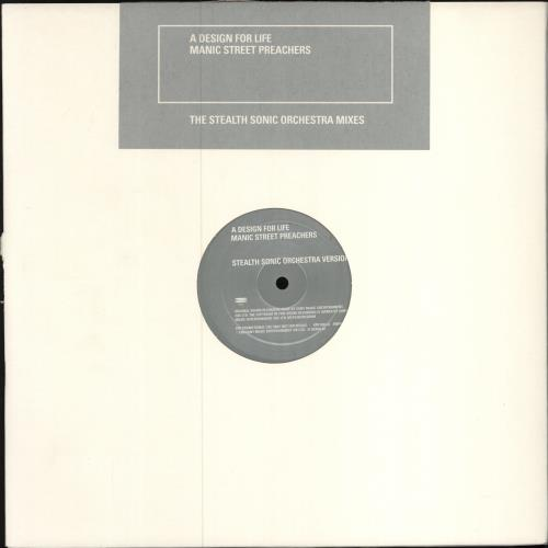 "Manic Street Preachers A Design For Life - Stealth Sonic Mixes + PR 12"" vinyl single (12 inch record / Maxi-single) UK MAS12AD101287"