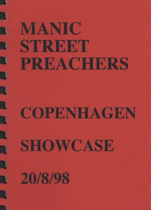 Manic Street Preachers Copenhagen Showcase - Tour Itinerary Itinerary UK MASITCO403953