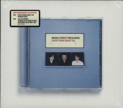 Manic Street Preachers Everything Must Go - 20th Anniversary Edition - Sealed 2 CD album set (Double CD) UK MAS2CEV653465