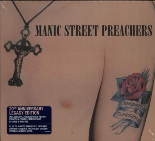 Manic Street Preachers Generation Terrorists - 20th Anniversary 3-disc CD/DVD Set UK MAS3DGE607612