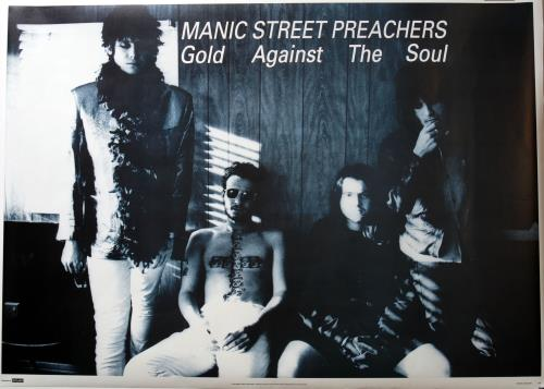 Manic Street Preachers Gold Against The Soul poster UK MASPOGO683873