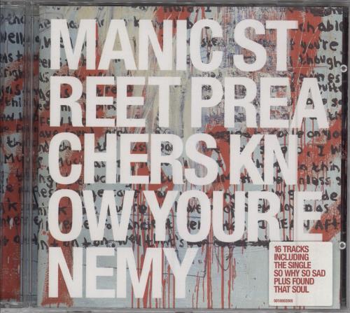 Manic Street Preachers Know Your Enemy CD album (CDLP) UK MASCDKN174979