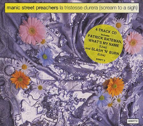 "Manic Street Preachers La Tristesse Durera - EX CD single (CD5 / 5"") UK MASC5LA303205"