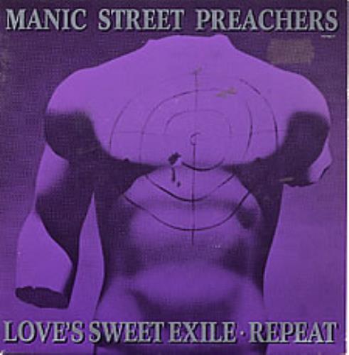 "Manic Street Preachers Love's Sweet Exile/Repeat 7"" vinyl single (7 inch record) UK MAS07LO62753"