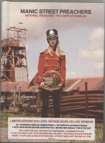 Manic Street Preachers National Treasures - The Complete Singles - Sealed 3-disc CD/DVD Set UK MAS3DNA735954