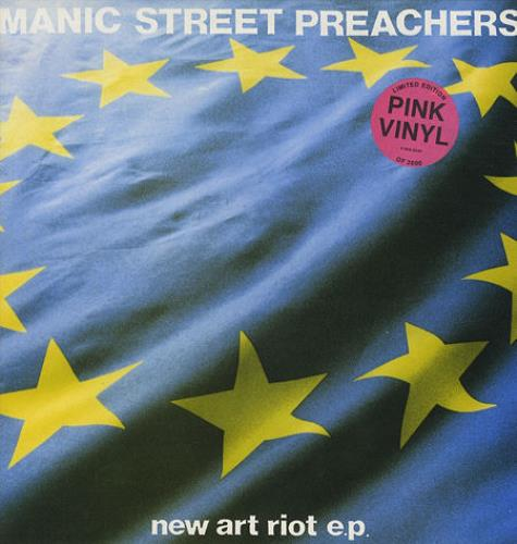 "Manic Street Preachers New Art Riot - Pink Vinyl 12"" vinyl single (12 inch record / Maxi-single) UK MAS12NE08791"