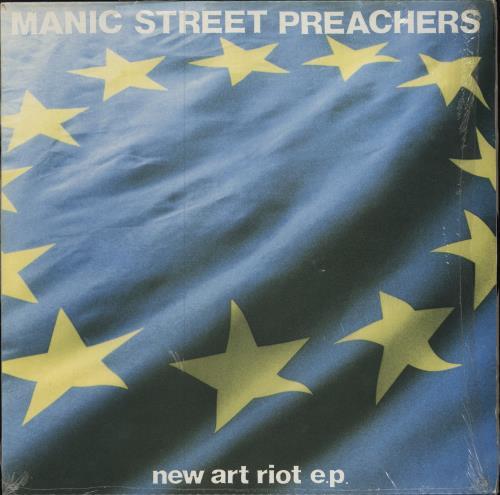"Manic Street Preachers New Art Riot EP - 2nd issue 12"" vinyl single (12 inch record / Maxi-single) UK MAS12NE590544"