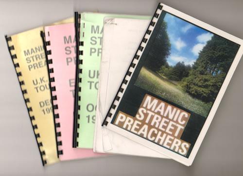 Manic Street Preachers Quantity of Five 1996 Tour Itineraries Itinerary UK MASITQU640934