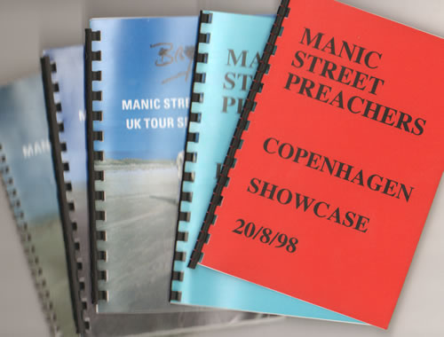 Manic Street Preachers Quantity of Five 1998 Tour Itineraries Itinerary UK MASITQU640931