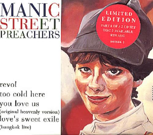 "Manic Street Preachers Revol - Part 1 CD single (CD5 / 5"") UK MASC5RE94335"