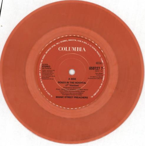 "Manic Street Preachers Roses In The Hospital - Red Vinyl 7"" vinyl single (7 inch record) UK MAS07RO63192"