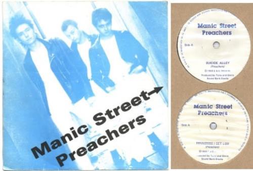 "Manic Street Preachers Suicide Alley - Blue Picture Sleeve & Handwritten Letter 7"" vinyl single (7 inch record) UK MAS07SU152298"