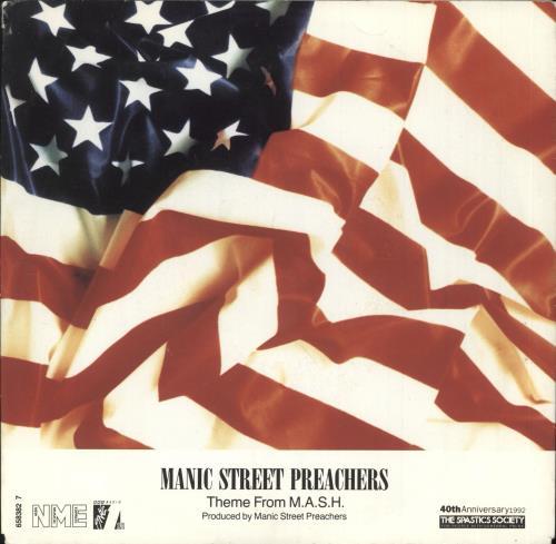 "Manic Street Preachers Theme From M.A.S.H. 7"" vinyl single (7 inch record) UK MAS07TH65416"