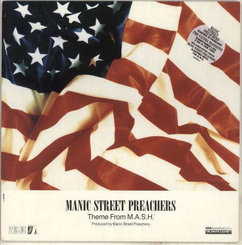 "Manic Street Preachers Theme From Mash 12"" vinyl single (12 inch record / Maxi-single) UK MAS12TH75864"