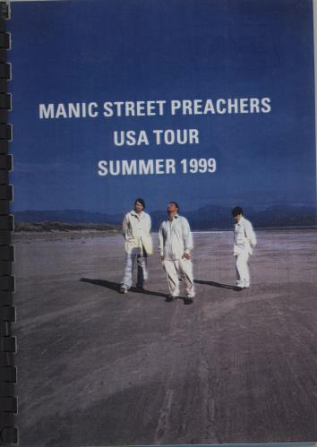 Manic Street Preachers USA Tour - Summer 1999 Itinerary US MASITUS660088