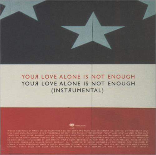 "Manic Street Preachers You Love Alone Is Not Enough CD single (CD5 / 5"") UK MASC5YO400090"