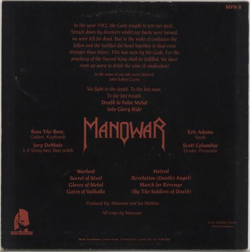 Manowar Into Glory Ride - Autographed vinyl LP album (LP record) UK MOWLPIN732228